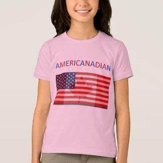 AMERICANADIAN girls' ringer tee