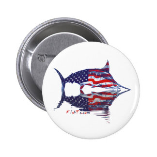 AmericanFlag Marlin by FishTs.com Button