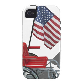 AmericanFlagWheelchair090912 png Case-Mate iPhone 4 Cover