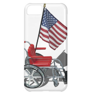 AmericanFlagWheelchair090912.png iPhone 5C Case