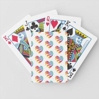 AmericanHeart - Rainbow Bicycle Playing Cards
