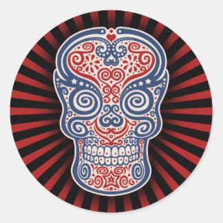 Americano Round Sticker