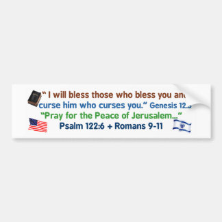 Americans - bless God and Israel Bumper Sticker