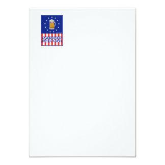 Americans Brew True 5x7 Paper Invitation Card