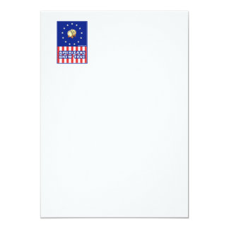 Americans Brew True Wine 5x7 Paper Invitation Card