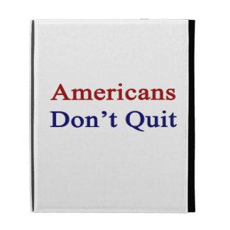 Americans Don t Quit iPad Folio Cover
