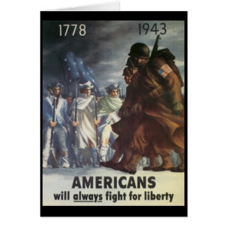 Americans Fight World War 2 Greeting Card