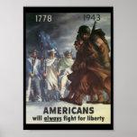 Americans Fight World War 2 Poster