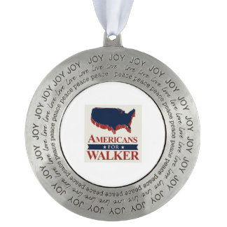 Americans for Walker in 2016 Round Ornament