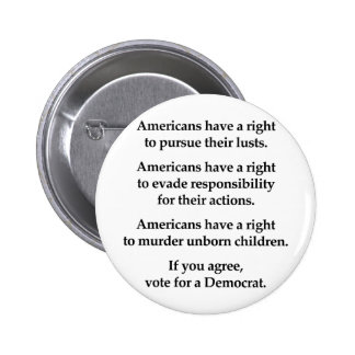 Americans have a right 6 cm round badge