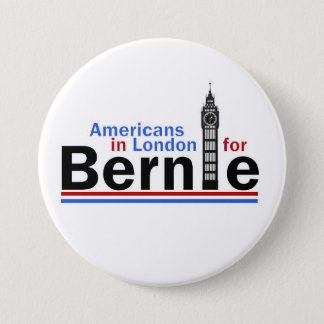 Americans in London for Bernie 7.5 Cm Round Badge