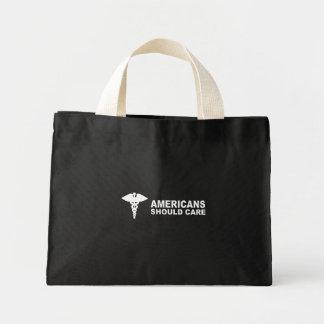Americans should care mini tote bag