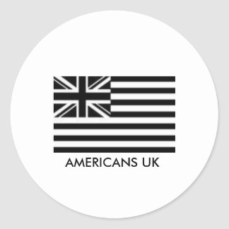 AMERICANS UK DECAL CLASSIC ROUND STICKER