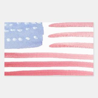 Americans USA Flag Rectangular Sticker