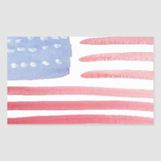 Americans USA Flag Rectangular Stickers