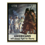 Americans Will Always Fight For Freedom Postcard