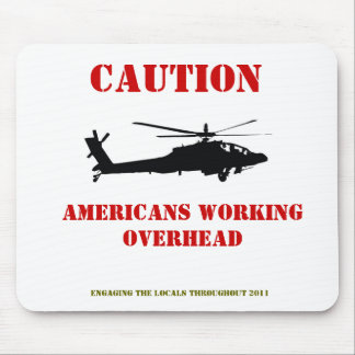 Americans working overhead mouse mat