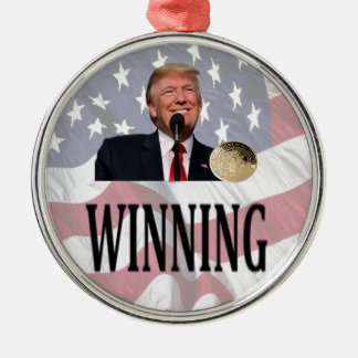 "Americas 45th President Trump ""Winning"" Christmas Ornament"