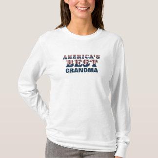 America's Best Grandma Patriotic Stars and Stripes T-Shirt