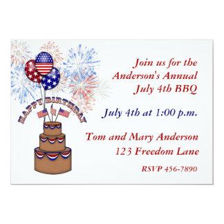 America's Birthday July 4th Invitation