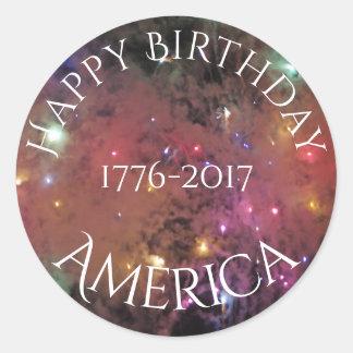 Americas Birthday Round Sticker