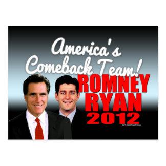 America's Comeback Team Postcard
