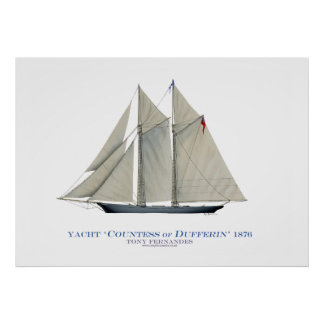 americas cup yacht 'countess of dufferin' poster