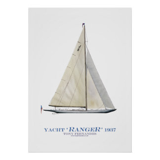 americas cup yacht 'ranger', tony fernandes poster