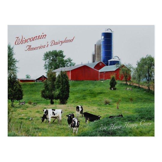 America's Dairyland Postcard