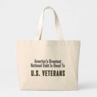 America's Debt to Veterans Canvas Bags