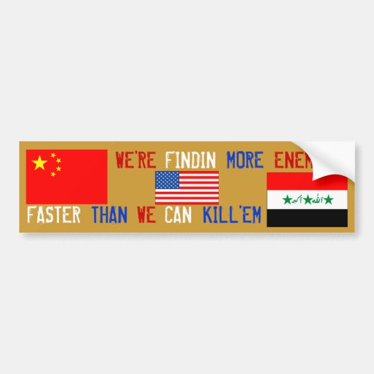 America's Enemies (IRAQ VS CHINA) Bumper Sticker
