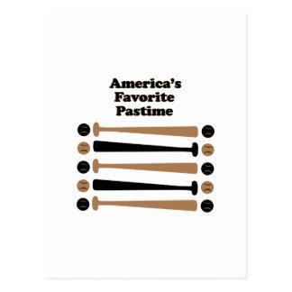 Americas Favorite Pastime Postcard