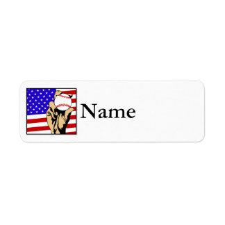 America's Favorite Pastime Return Address Label