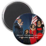 America's First African American Presiden... 6 Cm Round Magnet