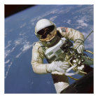 """America's First Space Walk 24""""x24"""" poster"""