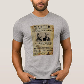 americas gangster fbi most wanted capone t-shirt