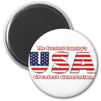 America's Greatest Generation 6 Cm Round Magnet