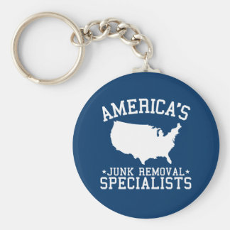 Americas Junk Removal Specialists Basic Round Button Key Ring