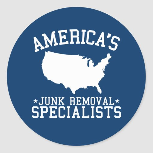 Americas Junk Removal Specialists Round Sticker