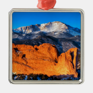 America's Mountain at Sunrise Christmas Ornament