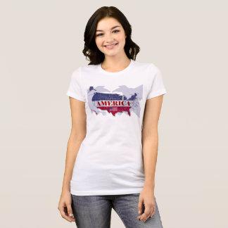 America's Named States Blue Bald Eagle T-Shirt