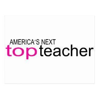 Americas Next Top Teacher Postcard