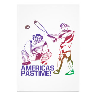 Americas Pastime Custom Announcements