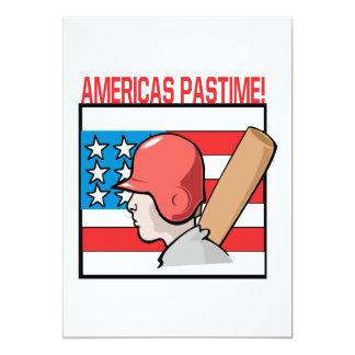 Americas Pastime 13 Cm X 18 Cm Invitation Card