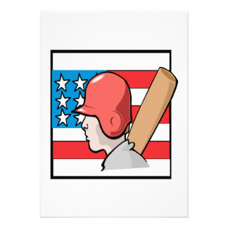 Americas Pastime Personalized Announcement