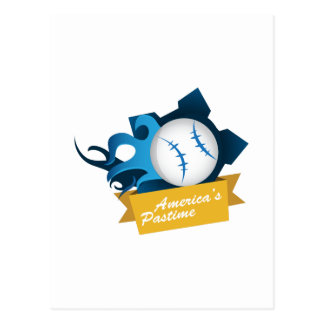 Americas Pastime Post Card