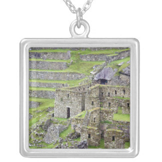 Americas, Peru, Machu PIcchu. The ancient 2 Silver Plated Necklace