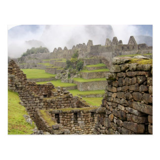 Americas, Peru, Machu PIcchu. The ancient Postcard