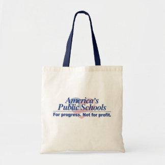 America's Public Schools For Progress Tote Canvas Bag