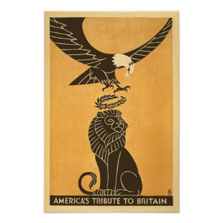 Americas Tribute To Britain WWI Britain Propaganda Photo Print